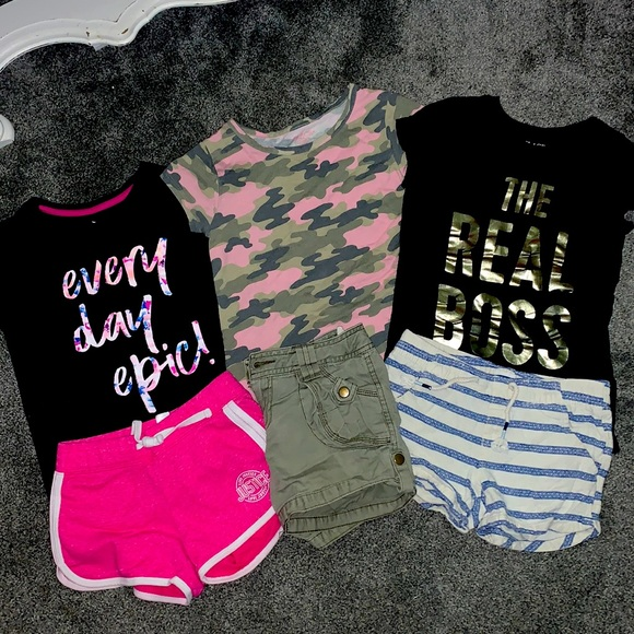 Three children's outfits assorted brands 7/8